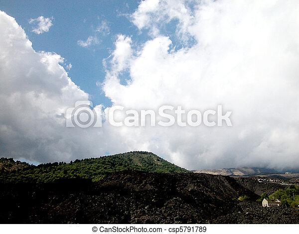 Etna volcano - csp5791789