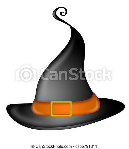 Halloween Witches Hat - csp5791811