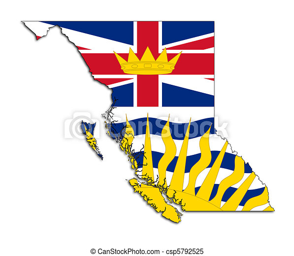 British Columbia map flag - csp5792525