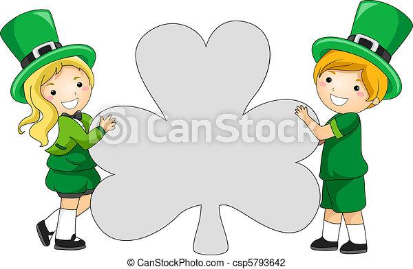 Clover-shaped Banner - csp5793642