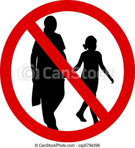 No mothers with children - csp5794396