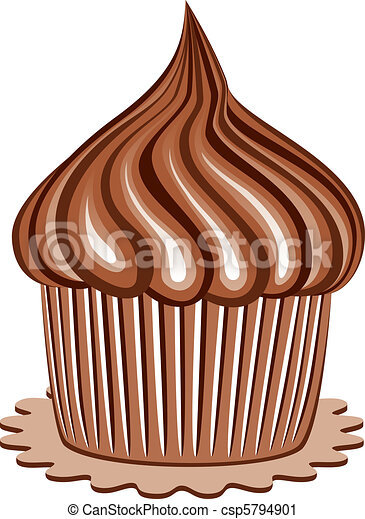 chocolate cupcake - csp5794901