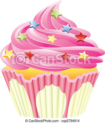 pink cupcake - csp5794914