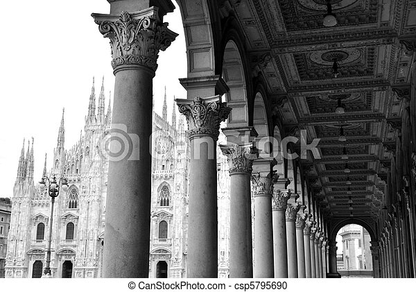Gothic cathedral of Milan, Italy - csp5795690