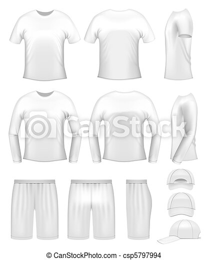 White men's clothing templates - csp5797994