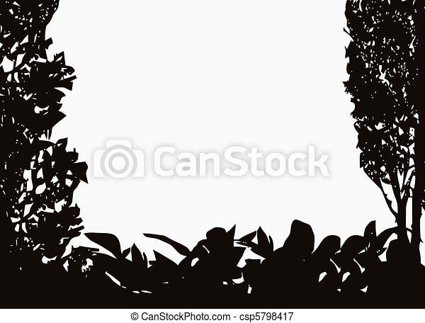 Isolated Bush Frame Vector - csp5798417