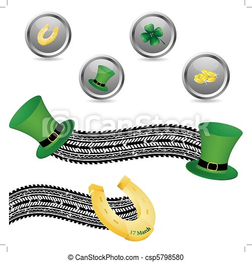 Saint Patrick's Day symbols - csp5798580