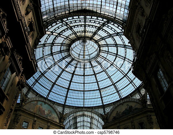 Gallery Vittorio Emanuele II in Milan - csp5798746