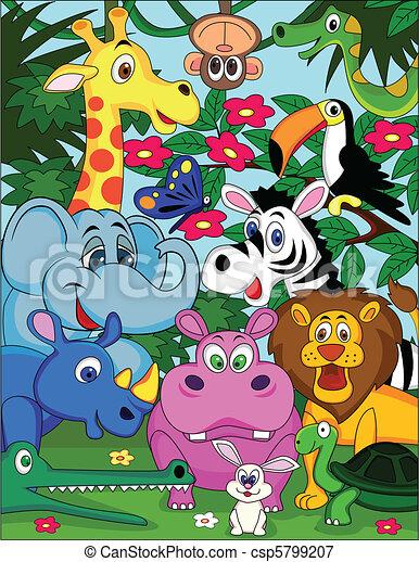 Animal cartoon - csp5799207