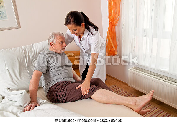 Nurse in aged care for the elderly - csp5799458