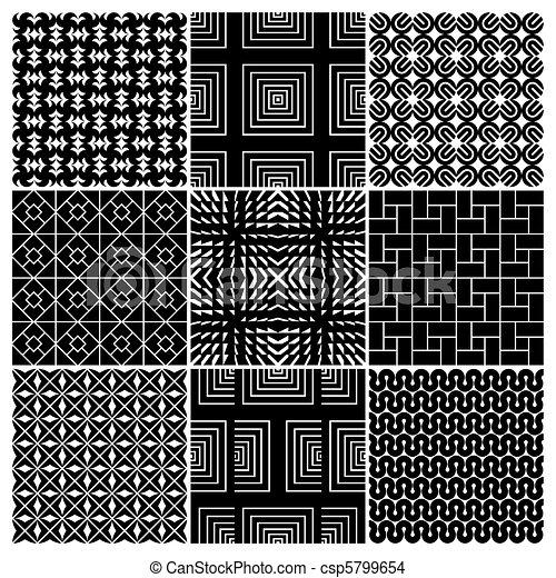 9 seamless patterns (vector) - csp5799654