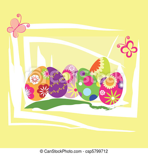 Springtime Easter holiday wallpaper - csp5799712