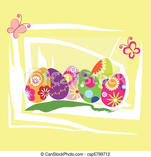Springtime Easter holiday wallpaper - csp5799712