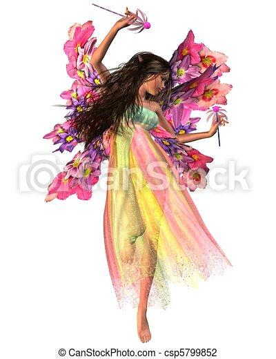 Flower Carnival Fairy - csp5799852