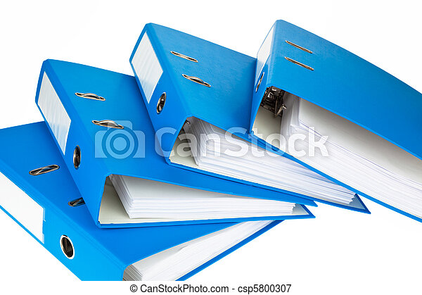 File folder with documents and documents - csp5800307