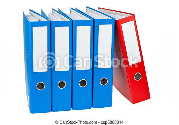 File folder with documents and documents - csp5800314