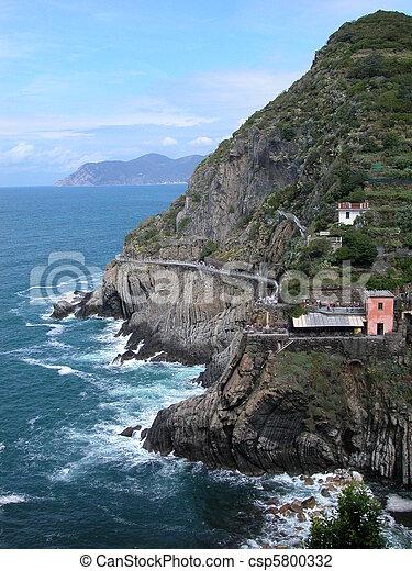Love road, Cinque Terre, Italy - csp5800332
