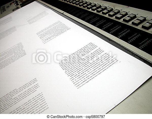 Offset printed sheet - csp5800797