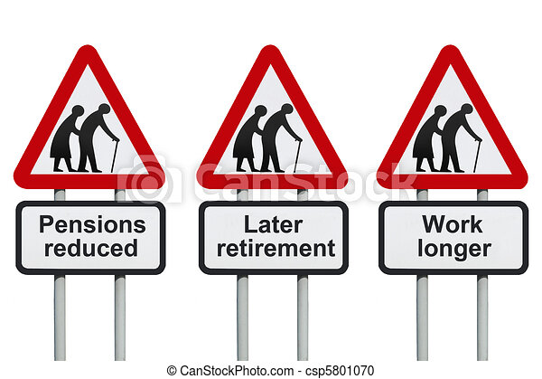 Reduced pensions, later retirement - csp5801070