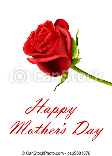 Mother's Day red rose - csp5801076