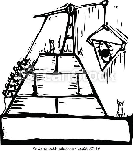 Masonic Pyramid Construction - csp5802119