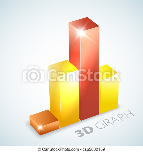 3D bar graph with visual effects - csp5802159