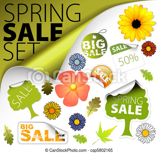 Set of fresh spring sale elements - csp5802165