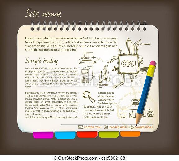 Horizontal web site template - csp5802168