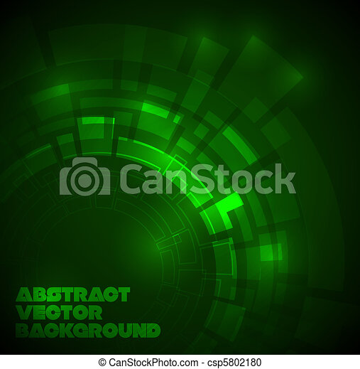 Abstract dark green technical background - csp5802180