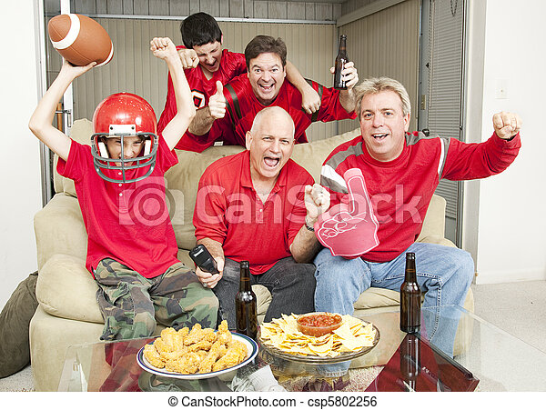 Excited Football Fans - csp5802256
