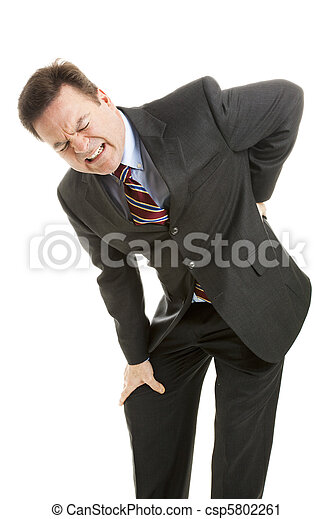 Businessman with Back Pain - csp5802261
