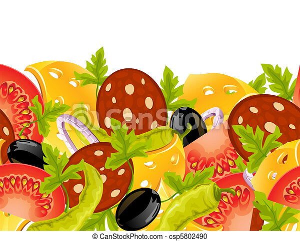 food seamless background - csp5802490
