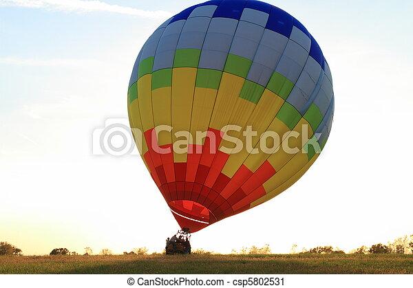 Hot Air Balloon landing - csp5802531