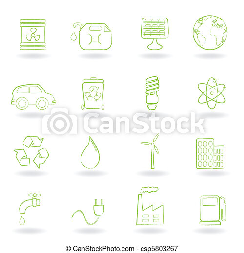 Environment and ecology icons - csp5803267