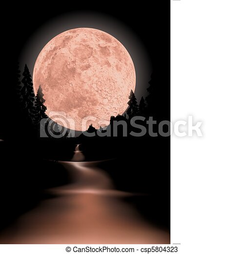 Way to red fullmoon - csp5804323