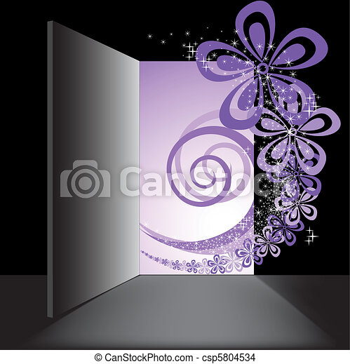 Open the door with the purple swirl - csp5804534