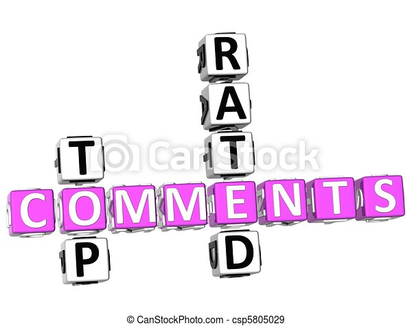 Top Rated Comments Crossword - csp5805029