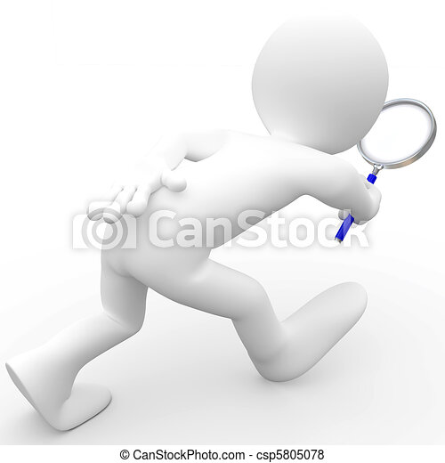 Man with magnifying glass - csp5805078