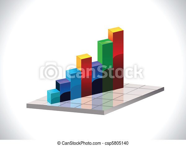 abstract colorful business chart - csp5805140
