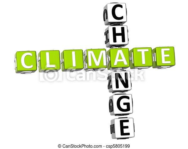 Climate Change Crossword - csp5805199