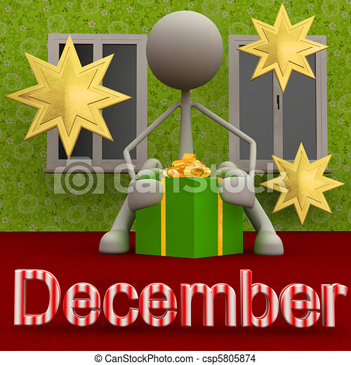 Stickman December - csp5805874