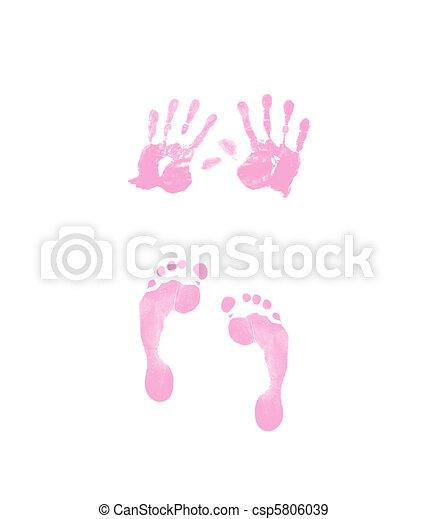 footprint and handprint - csp5806039