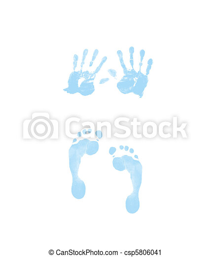 footprint and handprint - csp5806041