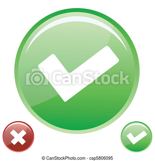 check and cross icons - csp5806095