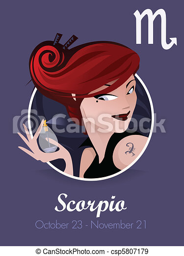 Scorpio zodiac sign - csp5807179