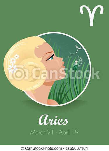 Aries zodiac sign - csp5807184