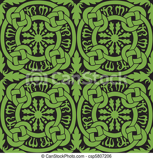 Celtic Knot Tile Pattern - csp5807206