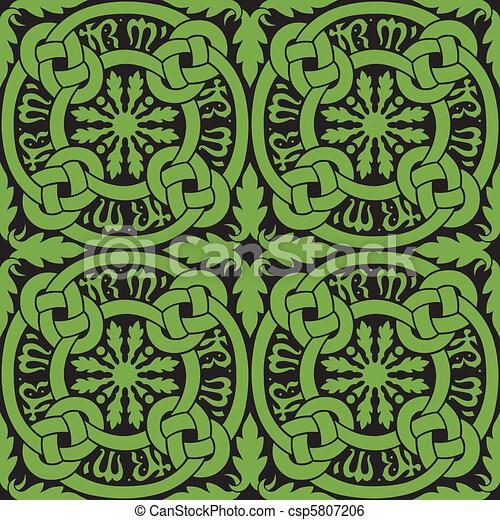 Celtic Knot Tile Pattern - csp5807206