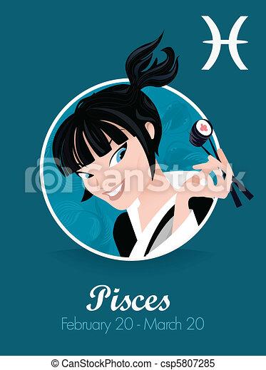 Pisces zodiac sign - csp5807285