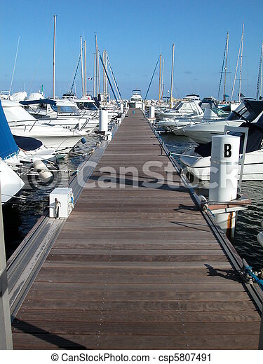 Sailboat marina - csp5807491
